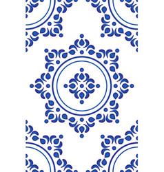 blue tile pattern vector image