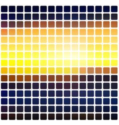 Blue yellow orange black rounded mosaic vector