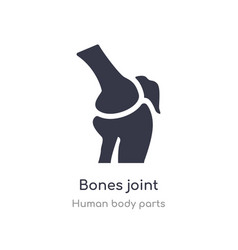 Bones joint outline icon isolated line from human vector