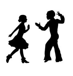 Boy and girl performing latin ballroom dance vector