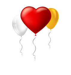 bright red heart the inflatable balloon in the vector image