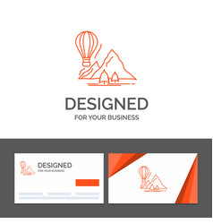 business logo template for explore travel vector image