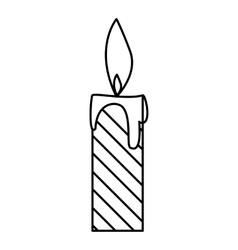 Candle icon outline style vector
