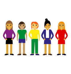 cartoon different people vector image