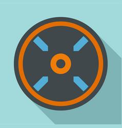 circle aim target icon flat style vector image