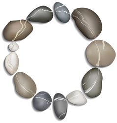 Circle of twelve pebbles vector