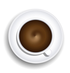Coffee cup top-down view vector