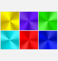 collection of multicolored conical gradients vector image