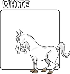Color White and Horse Cartoon vector