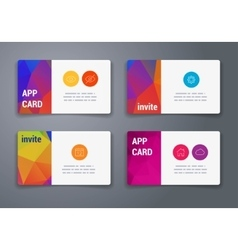 Colorful tiles templates for web ui and pring vector image