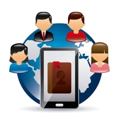 contact manager app vector image