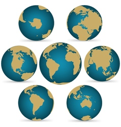 Continent on Rotatable Globe vector image