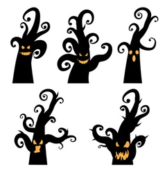 Crooked Spooky Trees vector