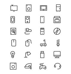 Electronics Line Icons 1 vector image