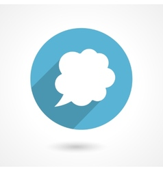 flat speech bubble icon vector image