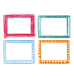 four frames in different colors vector image
