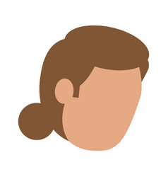 head of woman avatar icon image vector image