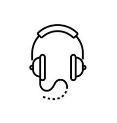 Headphones - line design single isolated icon vector
