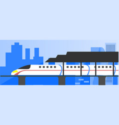 high speed electric train vector image