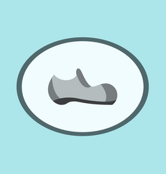 Icon in flat design fashion footwear man shoe vector