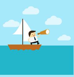 knowledgeflat design business concept cartoon vector image