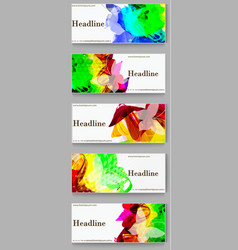 Labels template set Advertising banners with paint vector image vector image