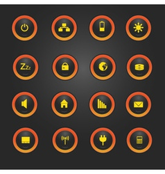laptop and PC indication light buttons eps10 vector image