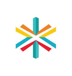 letter xcolourfull logo vector image