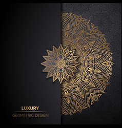 Luxury ornamental mandala design background in vector
