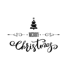 Merry Christmas lettering design vector