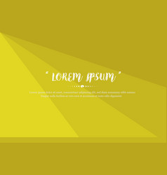 Modern background design with yellow color vector