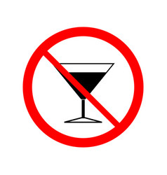 No alcohol drinks icon vector
