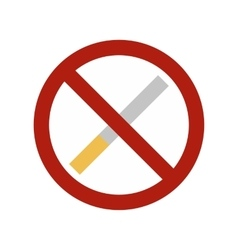 No smoking sign flat icon vector