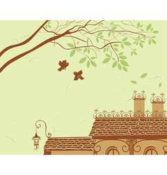 oof tree and bird vector image
