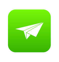 paper plane icon digital green vector image