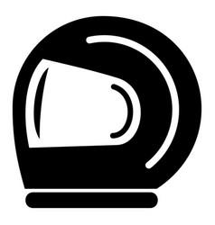 Racer helmet icon simple black style vector