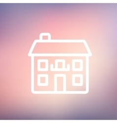 Real estate house thin line icon vector image