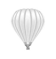 realistic detailed 3d white blank ballon template vector image
