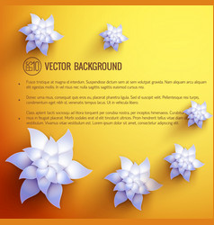 realistic floral spring template vector image