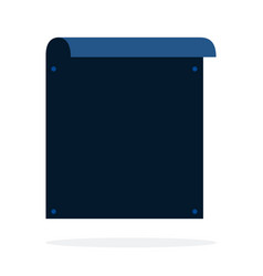 Rectangular banner pinned with push pins vector