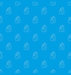 school backpack pattern seamless blue vector image