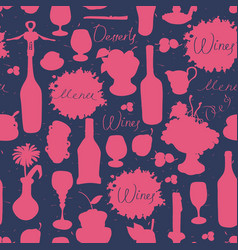 Seamless texture background on the topic of wine vector