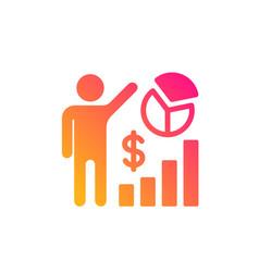 Seo statistics icon search engine optimization vector