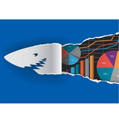 Shark with economy graphs vector