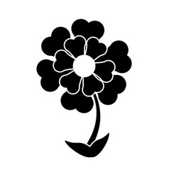 silhouette flower ornament natural vector image
