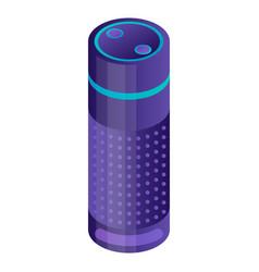 Smart home speaker icon isometric style vector