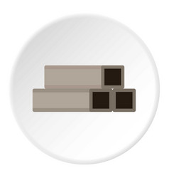 Square metal tubes icon circle vector