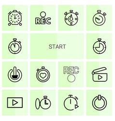 Start icons vector