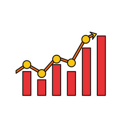 statistics bars graphic vector image