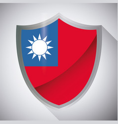taiwan flag design vector image